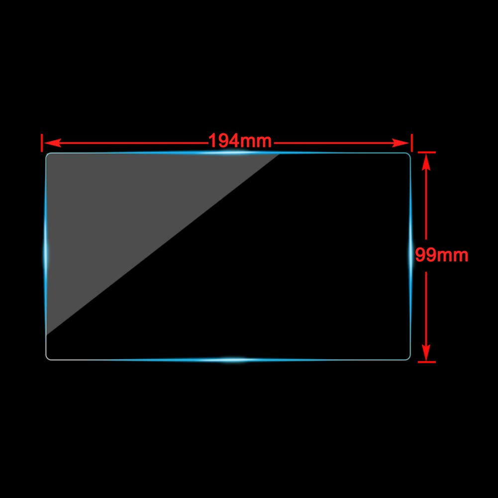 Cobear 9 Pulgadas HD Navegaci/ón Protector de Pantalla Vidrio Templado para Pantalla LCD t/áctil del Coche 196/×111mm