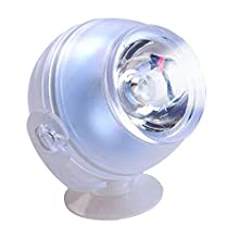 Bestgle Aquarium Mini LED Spotlights Amphibious Lighting IP68 Submersible Lamps 180 Degree Free Rotation Diving Decorative Light Bulbs for Fish Tank Fountain Pond (Blue)