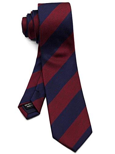 - WANDM Men's slim skinny tie necktie width 2.4