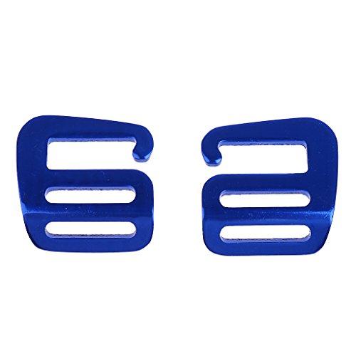 Baoblaze 2 Pcs 1 Inch G Hook Outdoor Webbing Buckle Clip For Backpack Strap Belt 25mm Hardware Carabiners - Blue