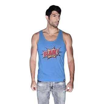 Cero Blam Retro Tank Top For Men - Xl, Blue