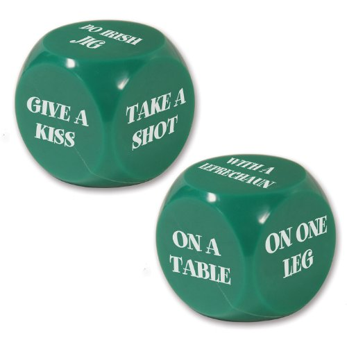 Beistle 30426 St. Patrick Decision Dice Game, 2 Dices Per ()