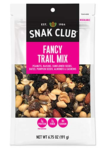 Snak Club All Natural Fancy Trail Mix, Non-GMO, 6.75-Ounces, 6-Pack