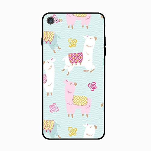 iPhone 6S Case/iPhone 6 Case, Happy Llama Printed Clear Design Case with TPU Bumper Protective Case Cover for iPhone -