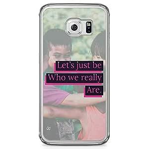 Samsung Galaxy S6 Edge Transparent Edge Phone Case No Racism Phone Case Original Phone Case Motivation Samsung Galaxy S6 Edge Cover with Transparent Edge