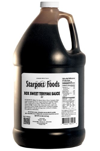 Starport Foods XOX Sweet Teriyaki Sauce, 1/2 gallon (NET WT 4.9 lb, 78 oz) by Starport Foods