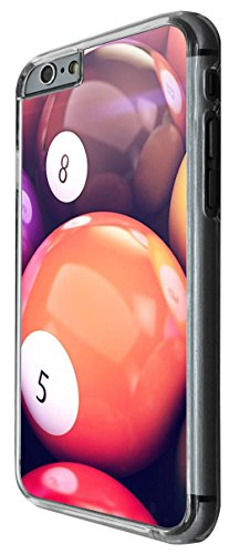 1200 - Menly Design Pool Snooker Number 8 Design For iphone 6 Plus / iphone 6 Plus S 5.5'' Fashion Trend CASE Back COVER Plastic&Thin Metal -Clear