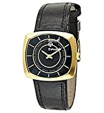 Replay Ladies Black Dial Black Leather Strap Watch
