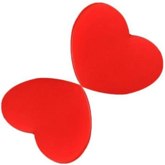 BESPORTBLE 10 Pcs Tennis Racket Vibration Dampeners Heart Shape Shock Absorber Silicone Tennis String Shock Damping for Racquetball Players Red Pink
