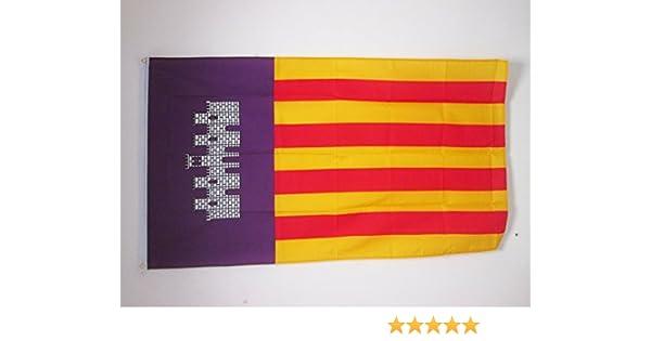 AZ FLAG Bandera de Mallorca 150x90cm - Bandera MALLORQUINA 90 x ...