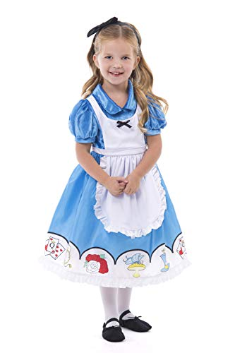 Alice In Wonderland Costume Age 10 (Little Adventures Alice with Headband Dress Up Costume Age 3-5)