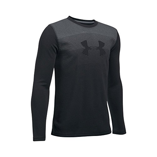Under Armour Boys' ColdGear Infrared Long Sleeve, Black/Graphite, Youth Large