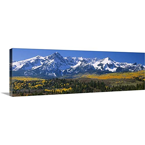 Solid-Faced Canvas Print Wall Art Print Entitled Mountains Covered in Snow, Sneffels Range, Colorado 60