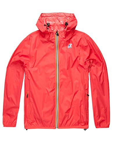 K-WAY Le Vrai Claude 3.0 Mens Windbreaker, Hibiscus, Large