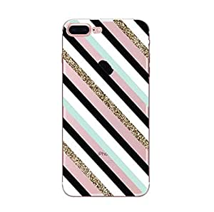 Iphone7/8 Plus Striped Painted Phone Case Apple Soft shell Edge TPU Cover