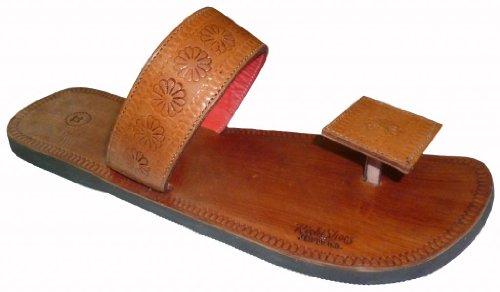 Pantofole In Pelle Di Rajasthani Da Uomo Di Lusso Artigianali