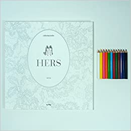 Coloring Book Hers With 12 Mini Color Pencils Suwa 8809491092134 Amazon Books