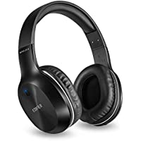 Edifier W806BT Bluetooth Headphones Over Ear Lightweight,70 Hours Playtime Wireless Hi-Fi Stereo Headset with Built-in Microphone for Phones, Tablet PC,Computer and TV(Black)