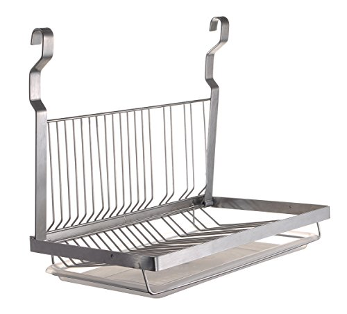 ESYLIFE Stainless Steel Dish Drying Rack with Drain Board, S
