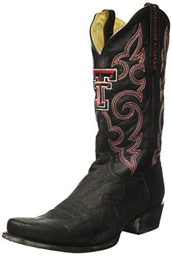 NCAA Texas Tech Red Raiders Men's Board Room Style Boots, Black, 10 D (M) US