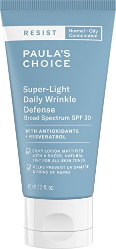 Paraben Tinted Moisturizer Free (Paula's Choice-RESIST Super-Light Daily Wrinkle Defense SPF 30, 2 Ounce Tube, Matte-Finish Tinted Moisturizer with SPF plus Vitamin C and E, Suitable for Oily and Acne-Prone Skin)