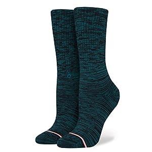 Stance Women's Uncommon Classic Crew Socks, Teal, Medium