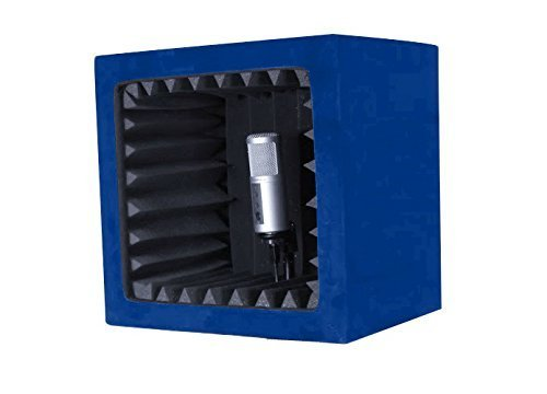 SnapRecorder - Silver Edition in Blue - Portable Recording Booth by SnapRecorder