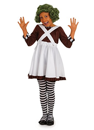 Factory Worker (girl) - Childrens Fancy Dress Costume - Medium - (Oompa Loompa Willy Wonka Costume)