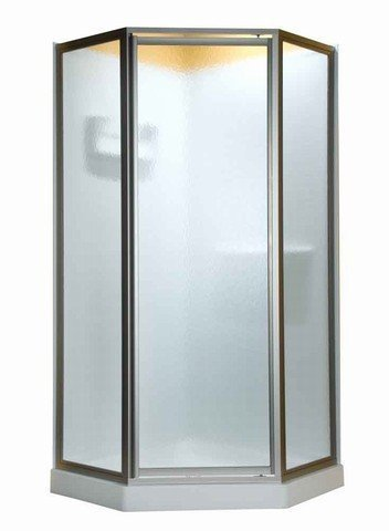 American Standard AMOPQF2400.213 Neo Angle Doors with Clear Glass, Silver Shine