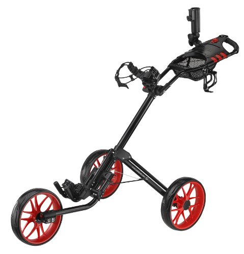 CaddyTek Deluxe Quad Fold Golf Push Cart