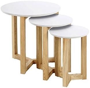 Zoeken Naar AC Design Furniture set met tafels Jennie, B: 50 x D: 50 x H: 50 cm, MDF, wit  h05B4DW