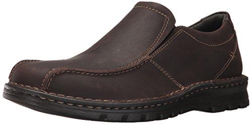 Dark Brown Leather Loafer (CLARKS Men's Vanek Step Slip-on Loafer, Dark Brown Leather, 8.5 W US)
