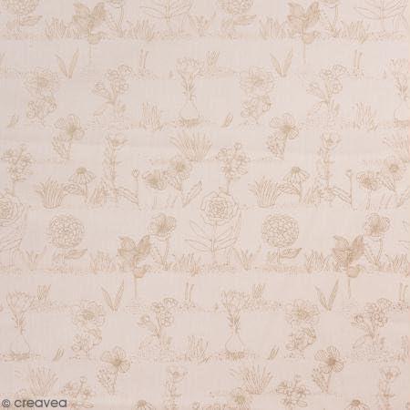 Rico Design Retal de Tela Lienzo algodón Made by Me – Flores ...