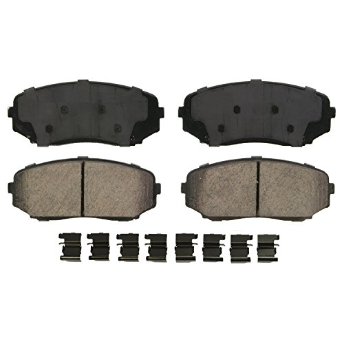 Wagner QuickStop ZD1258A Ceramic Disc Pad Set Includes Pad Installation Hardware, ()