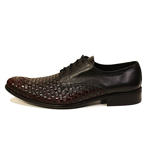 Modello Pasquale - Handmade Colorful italiennes Chaussures en cuir Oxfords Casual Souliers de Formal Prime Unique Vintage Gift Lace Up Robe Hommes