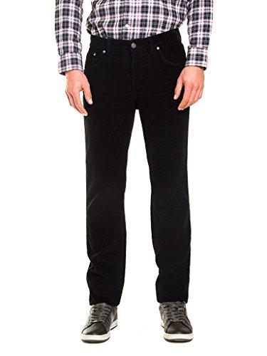 Jeans Dritto Regular Pantalone Carrera Per 7001050a Normale Modello Unita Uomo Velluto Vita Tinta Vestibilità Sqdq6YB