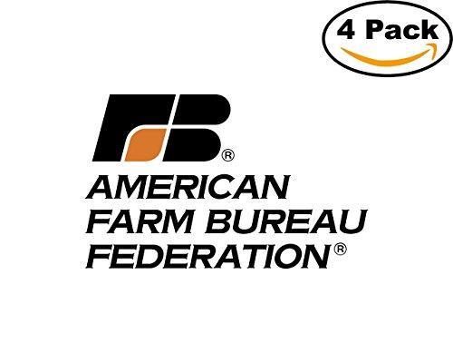 (Amer Farm Bureau 1 4 Stickers 4X4 inches Car Bumper Window Sticker Decal)
