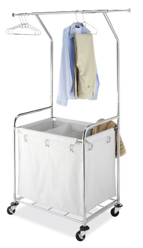 (Whitmor Commercial Rolling Laundry Center with Removable Liner and Heavy Duty Wheels)