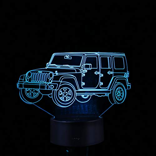 Night Lights,LED 3D Illuminated Lamp Optical Desk Night Light with 7 Color Changing