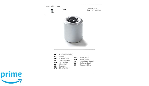 Matte White 0.98 inches Modern Forms XF-I-MW Transitional Downrod Coupler Fans Collection Finish