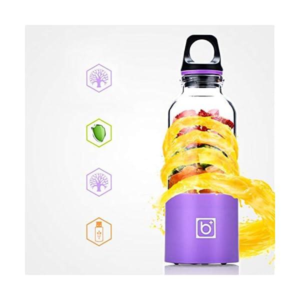 AMTSKR Spremiagrumi Elettrico Portatile Tazza Frullatore Multifunzionale Bottiglia Usb Ricaricabile Spremere Frutta… 4 spesavip