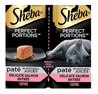 Sheba Perfect Portions Variety Seafood Pack , 50 ct. , Wet Cat Food Pate Bundle Trays