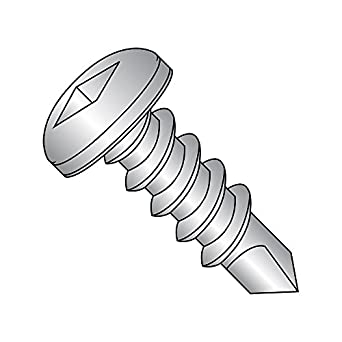Plain Finish #6-20 Thread Size 1-1//4 Length Pack of 25 1-1//4 Length Pan Head Small Parts 0620KPP188 #2 Drill Point Pack of 25 18-8 Stainless Steel Self-Drilling Screw Phillips Drive