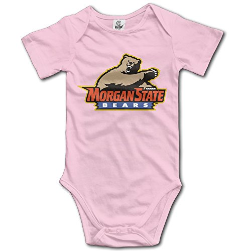 morgan-state-bears-pink-cute-short-sleeves-variety-baby-onesies-bodysuit-for-little-kids-size-6-m