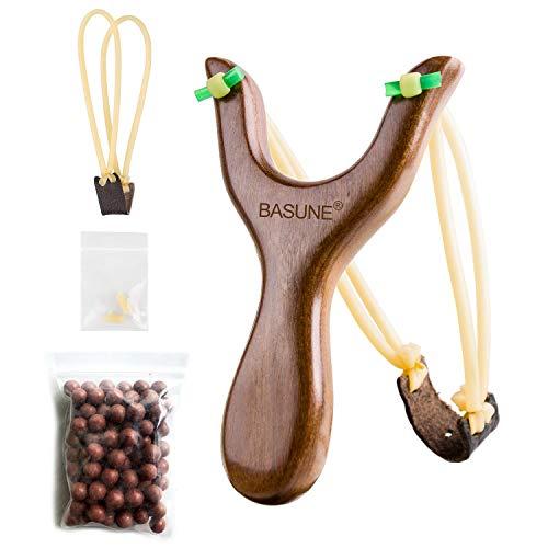 BASUNE Solid Wooden Slingshot
