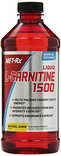 MET Rx Liquid L Carnitine 1500, Natural Lemon Flavor, 16 oz.