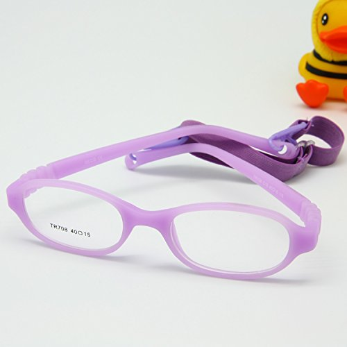 EnzoDate Baby Optical Glasses Frame Size 40 with Strap, Bendable Boys Girls Infants Eyeglasses