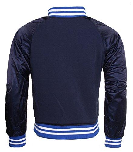 Young & Rich Herren Wende Jacke 812-4950 College Look Sweat Style Übergangsjacke, Grösse:XL;Farbe:Blau
