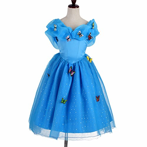 [Dressy Daisy Girls' Butterfly Princess Cinderella Costume Halloween Party Fancy Dress Size 4 / 5] (Halloween Costumes For 4 People)