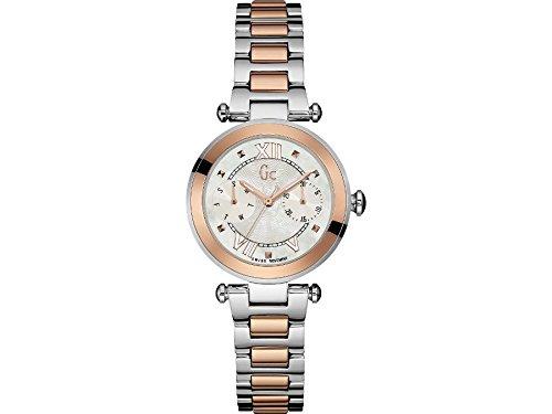 Guess Collection Women's Lady Chic Multicolor Two Tone Steel Bracelet Steel Case Quartz Watch Y06002L1